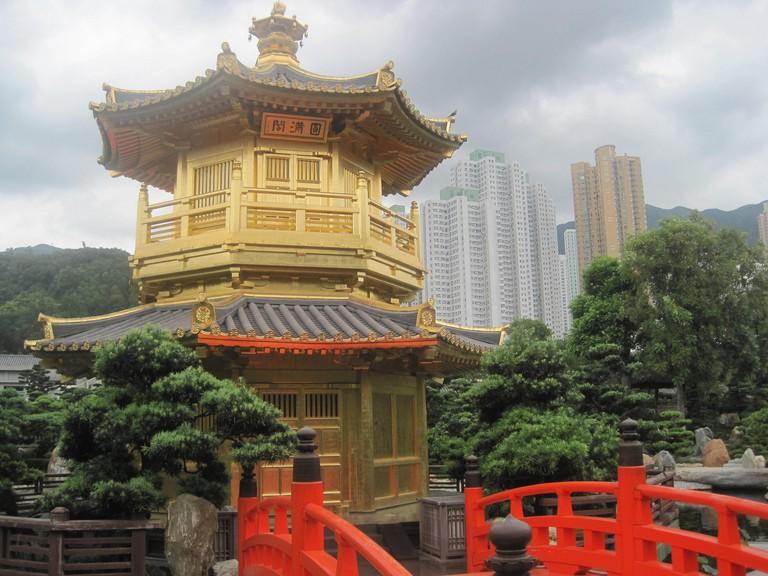 Yellow Temple, Chi Lin Nunnery, Hong Kon