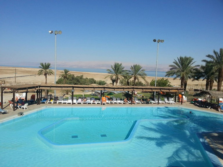 The Dead Sea hot springs