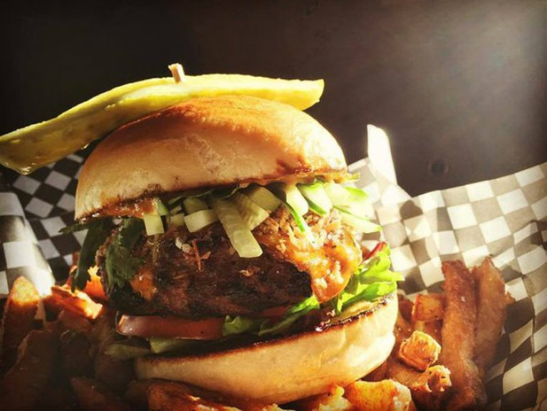 The Ship Indian Summer burger