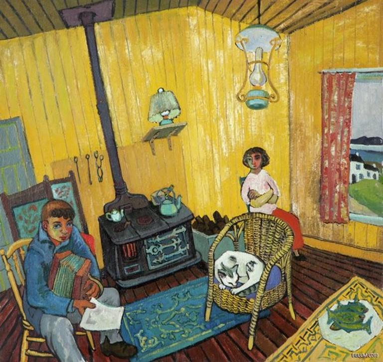 Yellow Bungalow (1954) | © The Estate of Gerard Dillon, nmni.com