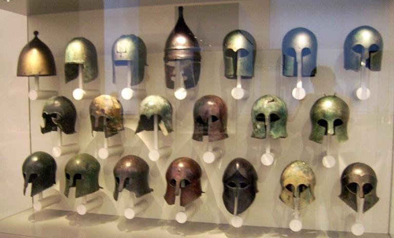 Greek helmets | © Marcus Cyron/WikiCommons