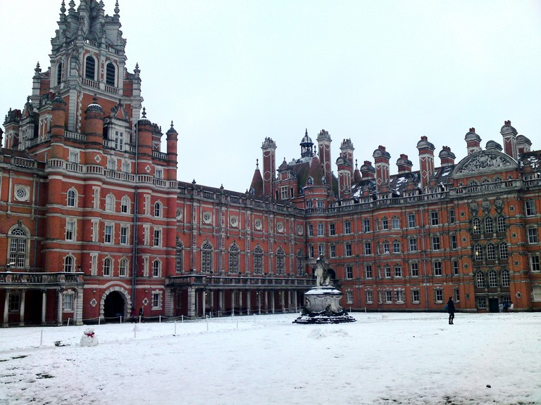 Royal Holloway in the Snow