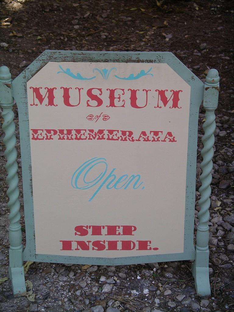 Museum of Natural & Artificial Ephemerata