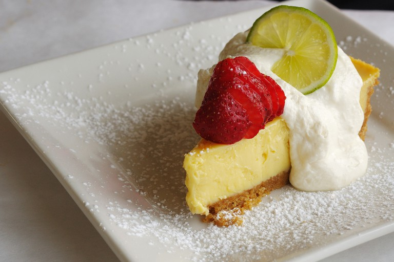 Fresh Key Lime Juiced is infused into Miami's favorite dessert