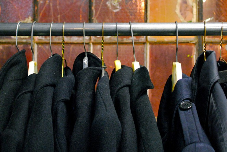 Coat rack at The Garment District| ©Laura Bittner/Flickr