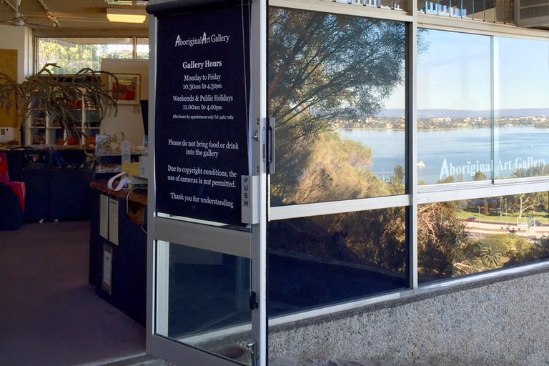 Overlooking the Swan River and City of Perth, in Kings Park, lies the Aboriginal Art Gallery