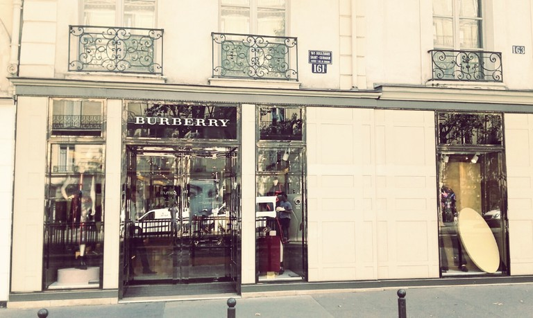 Burberry store Saint-Germain