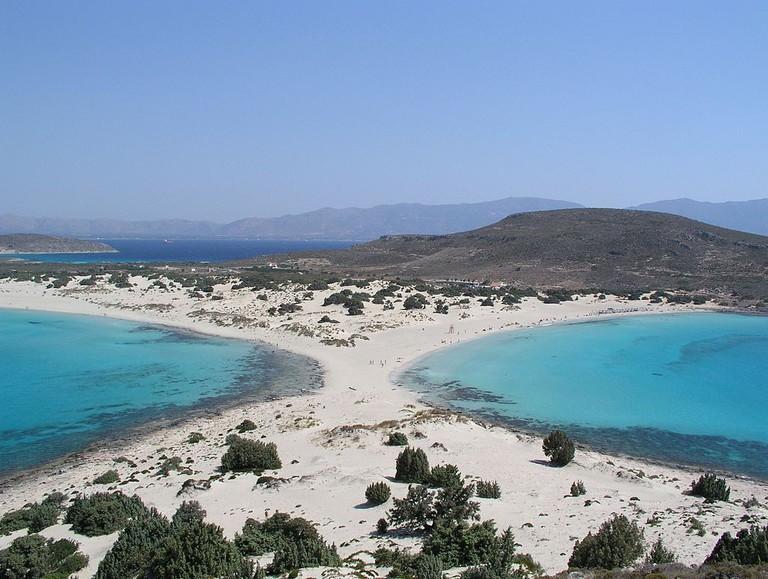 Megalos Simos or Sarakinikos, in Elafonisos island | © Dnalor 01/WikiCommons