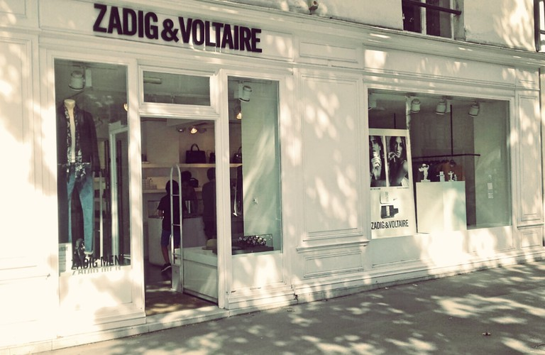 Zadig & Voltaire store Saint-Germain │ Courtesy of Paul McQueen