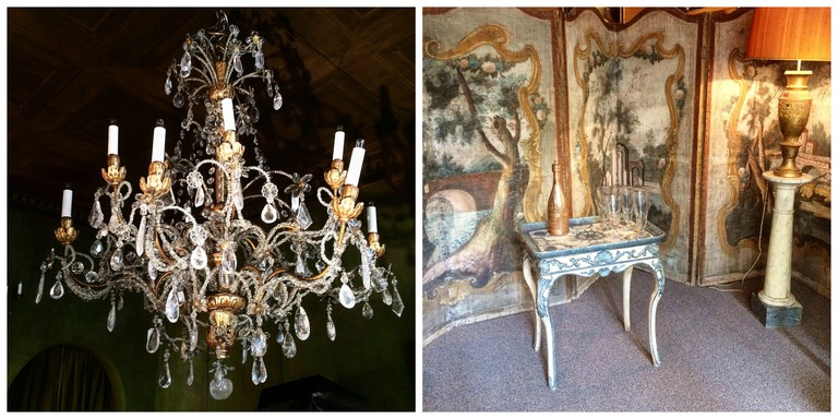 Chandelier, screen and other antiques at Yveline Antiquités