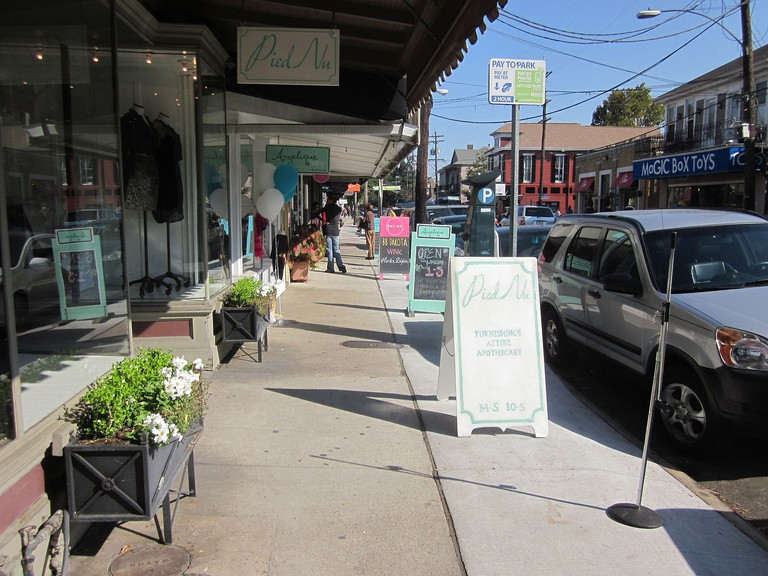 Pied Nu is located on Magazine Street, Uptown New Orleans