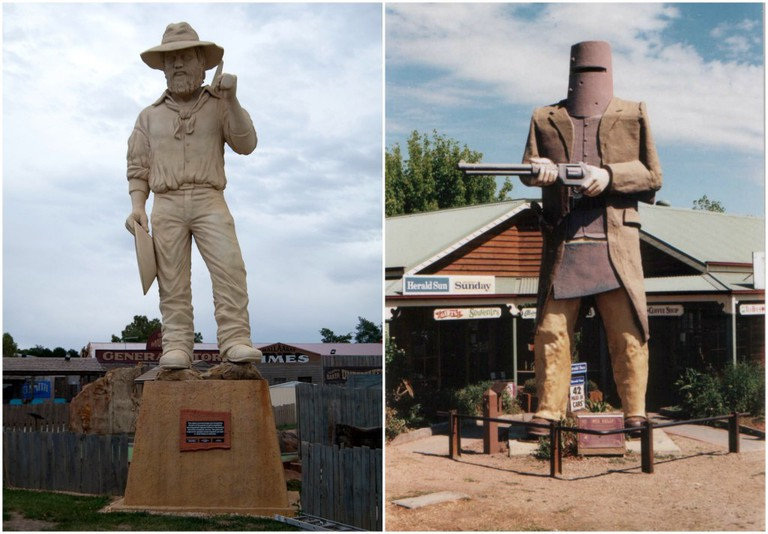 Big Miner | © Bilby / WikiCommons // Big Ned Kelly | © Tamsin Slater