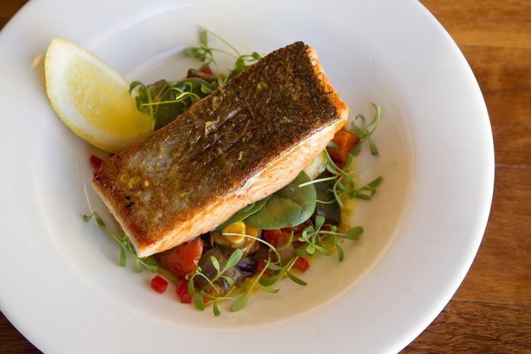 Salmon dish at Sirocco Noosa | © Paul Smith Images