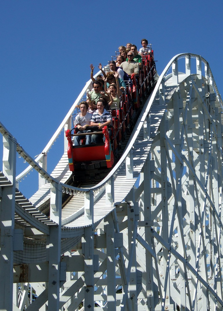 The Scenic Railway at Luna Park, Melbourne