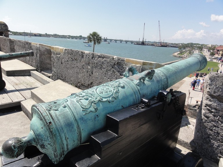 The Castillo De San Marcos looks over the city of St. Augustine, the first Spanish city in the continental USA   Courtesy of Inazakira/Flickr