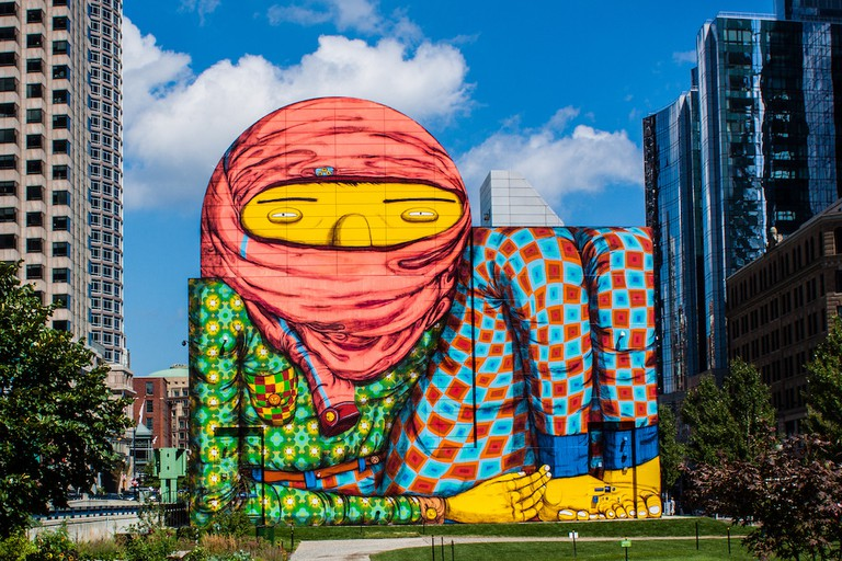 Mural on the Rose Kennedy Greenway in 2012 | © Tim Sackton/Flickr