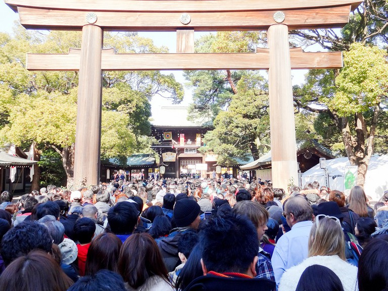 Hatsumode Meiji Jingu Shrine | © Dick Thomas Johnson/Flickr