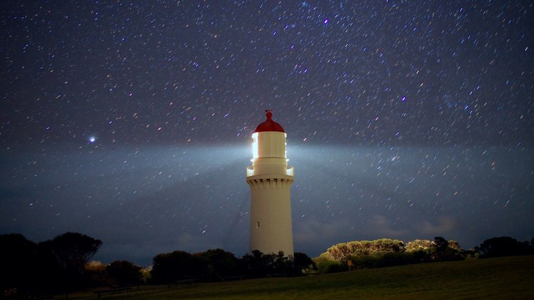 Cape Schanck Lighthouse and stars (2), July 2015 © Thomas Williams/Flickr
