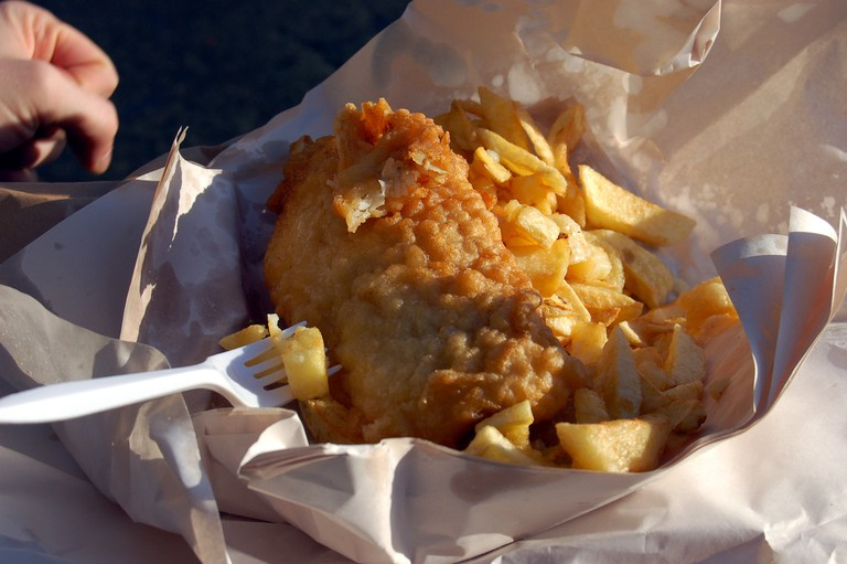 Fish and chips from Leo Burdock, Dublin