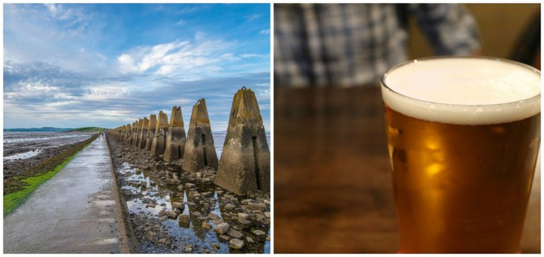 Cramond Causeway | © Chris Combe/Flickr // Good Beer To Boot | © Connie Ma/Flickr