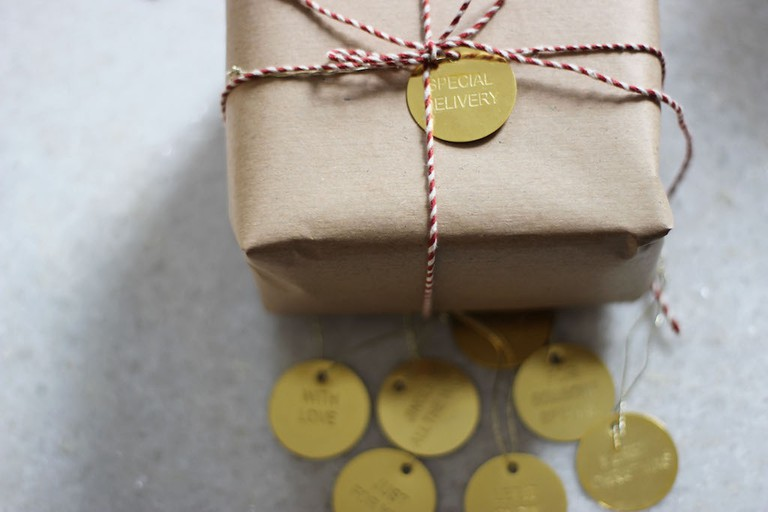 Brass Gift Tag Set   Courtesy of April and the Bear