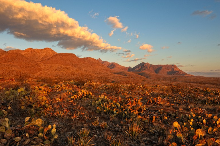 Southern Rocky Mountains in El Paso, Texas at Sunrise © BrianWancho / Shutterstock