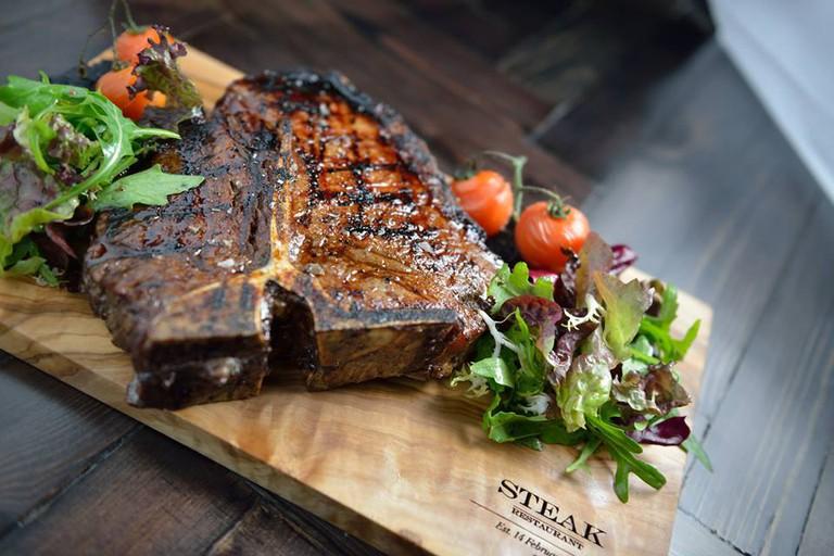 Succulent Steak On Board