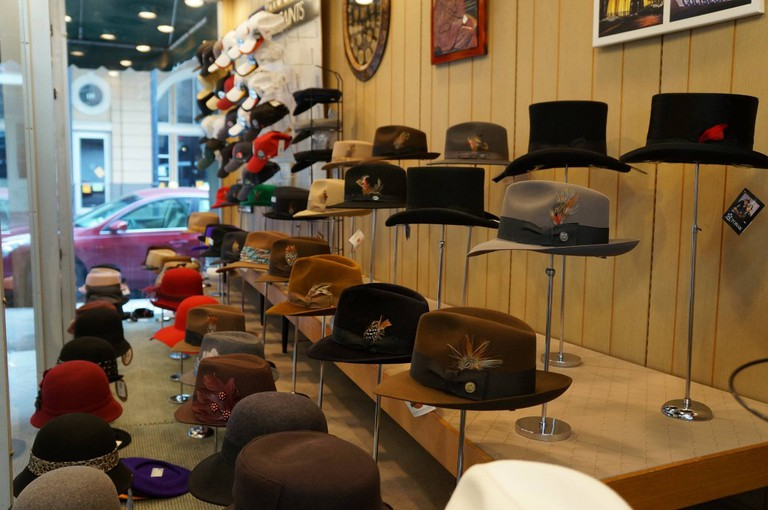 Hats at Meyer The Hatter, courtesy of Meyer the Hatter