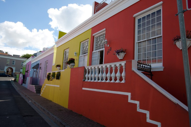 Colourful houses in the Bo-Kaap, Cape Town