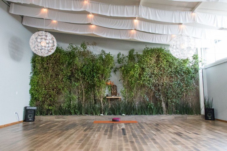 The yoga space in Polanco   Courtesy of O2 Yoga