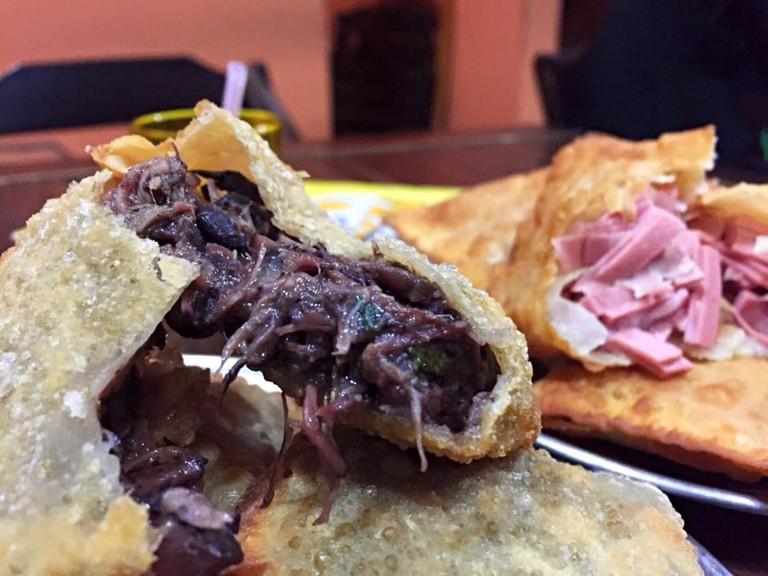 Dried meat pastel |© Bar da Gema