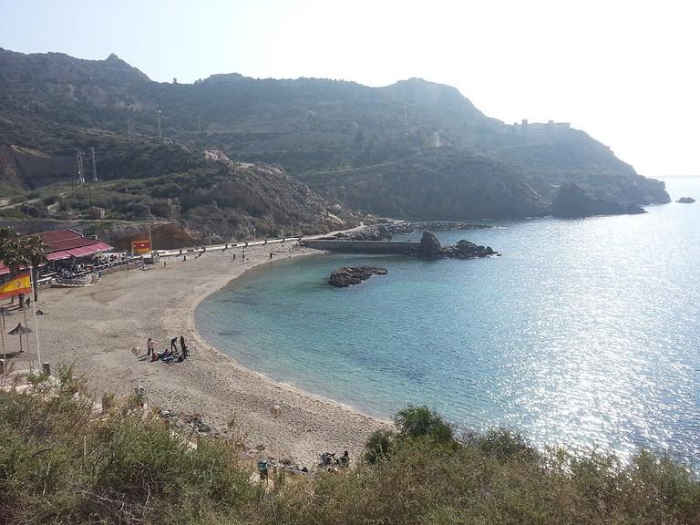 Cala Cortina Beach, Cartagena