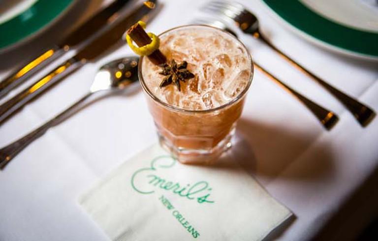 Emeril's Whiskey Wonderland cocktail, courtesy of Emeril's Restaurant.
