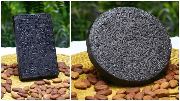 Aztec inspired bars of chocolate