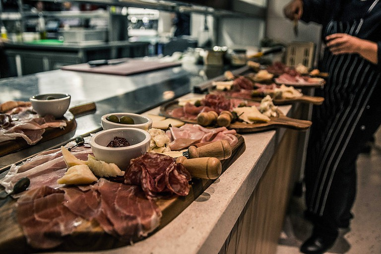 Cheese and cold meat platters at Villa 47