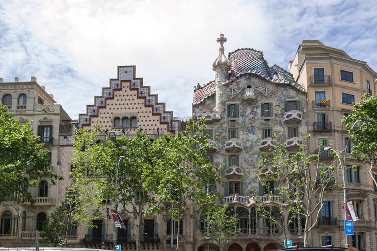 Casa Batlló on Passeig de Gracià © dconvertini