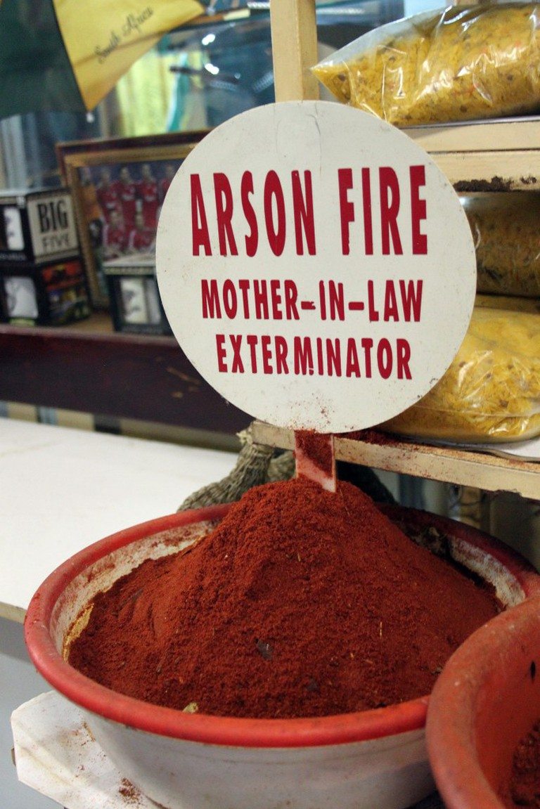 How some spices are advertised in Durban's Indian markets|© flowcomm/flikr