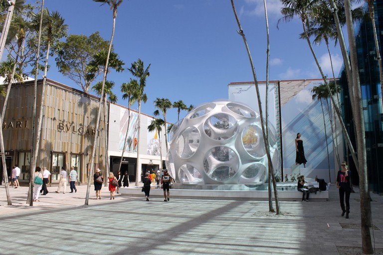 Bulgari At Design District Buckminster Fuller Fly's Eye Dome via Phillip Pessar