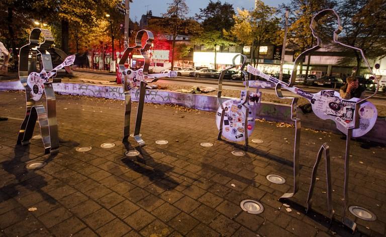 Beatles statues Hamburg