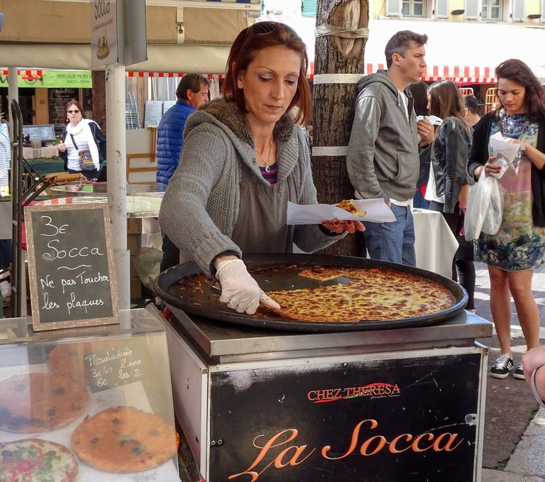 """A visit to Nice should include the local delicacy of """"socca"""" - chickpea pancake