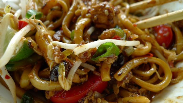 Asian noodles can be a nice alternative if you just can't do any more Spanish cuisine