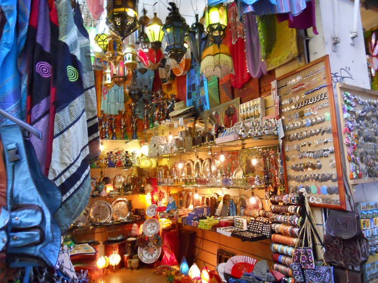 One of the many Arabic textile and artefact shops in central Granada; Adam Solomon, flickr