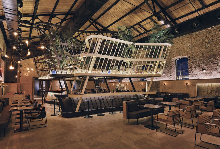 The restaurant's stylish interior