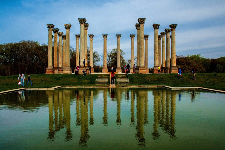 Corinthian columns at U.S. National Arboretum