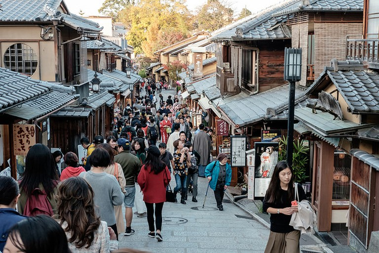 Well-preserved streets in Higashiyama