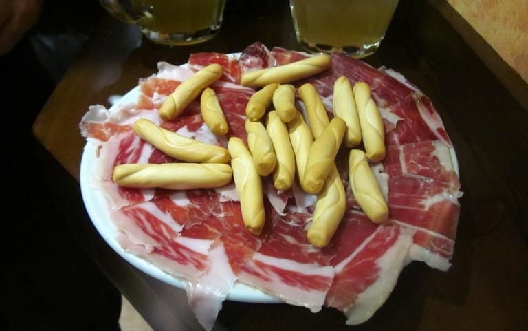 Some Serrano ham at La Manduca