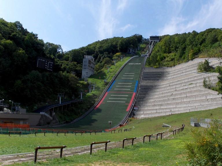 Okurayama Ski Jump Stadium, Sapporo, Japan.