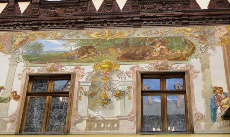 Peleș Castle fresco | © Espino Family/ Flickr