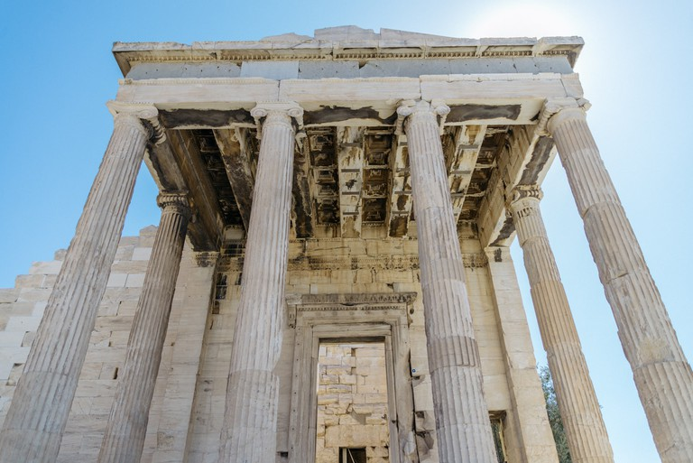 The Erechtheion is dedicated to the goddess Athena and the god Poseidon