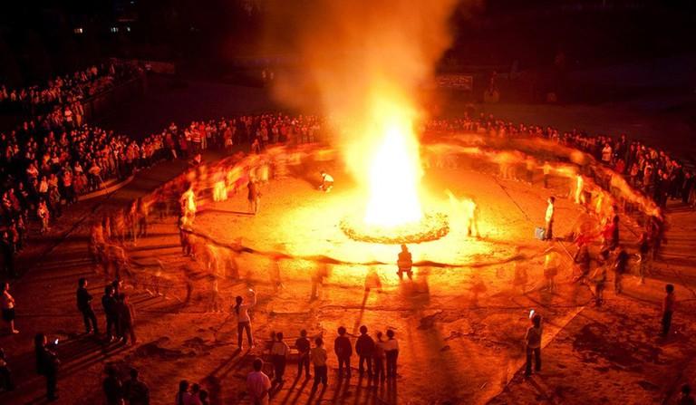 Torch Festival | © 武定锦志广告/nipic.com